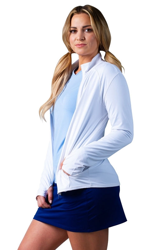 900506-C SolStyle Cool Full Zip Jacket. White