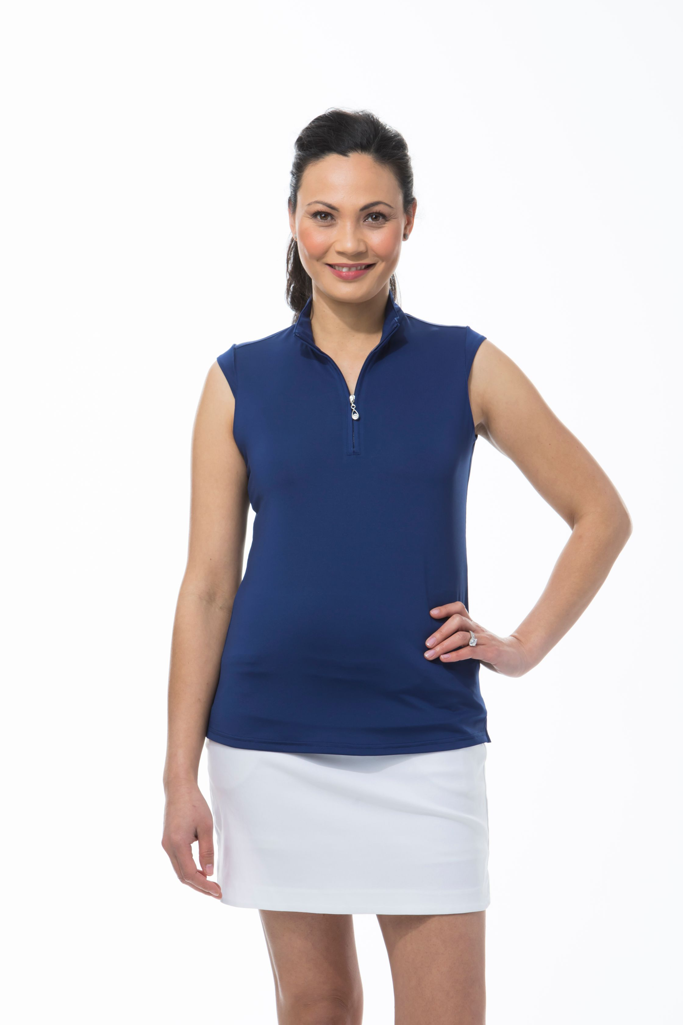 900439 SUNGLOW SLEEVELESS MOCK - Navy