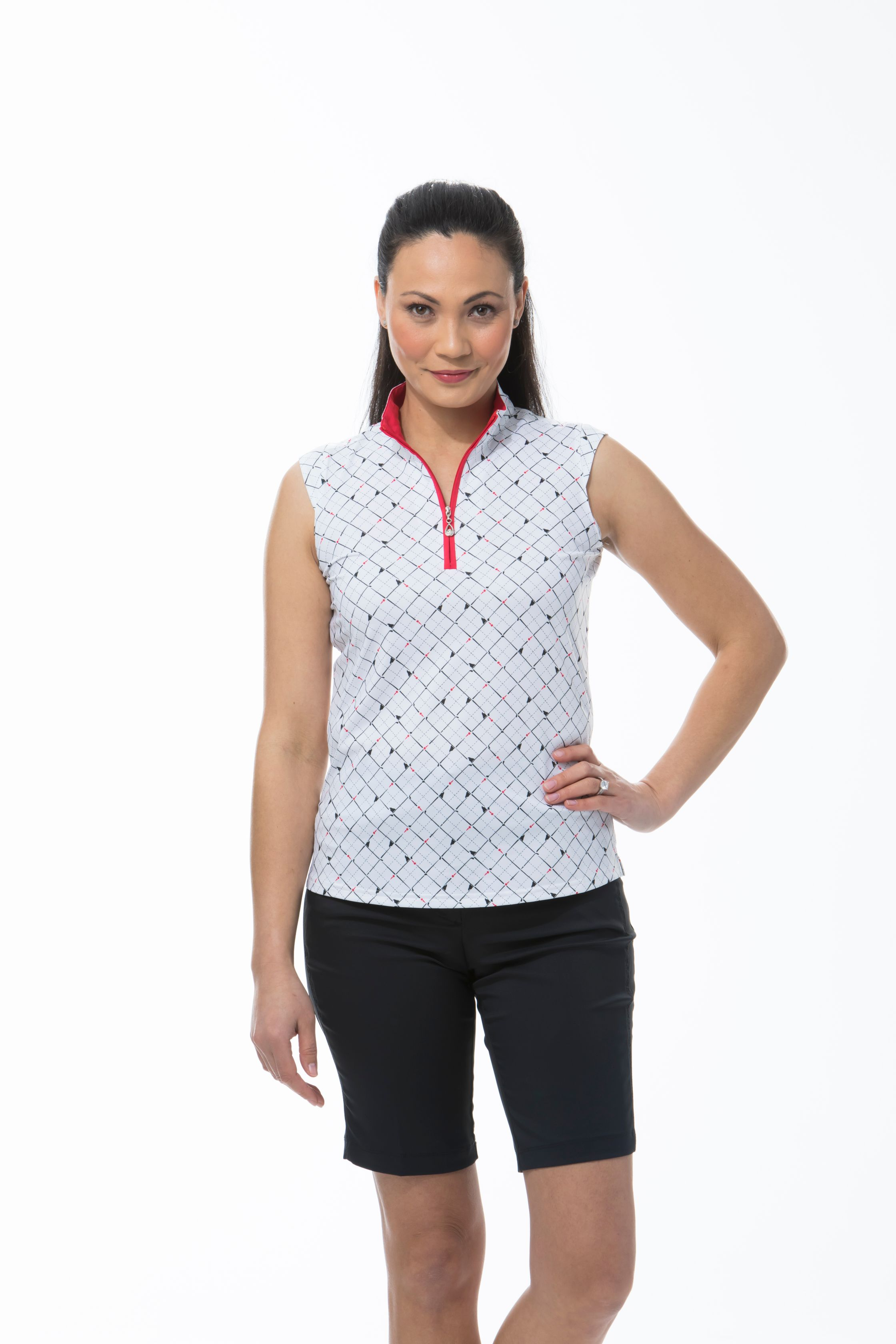 900471 SOLCOOL SLEEVELESS MOCK. Tee Box