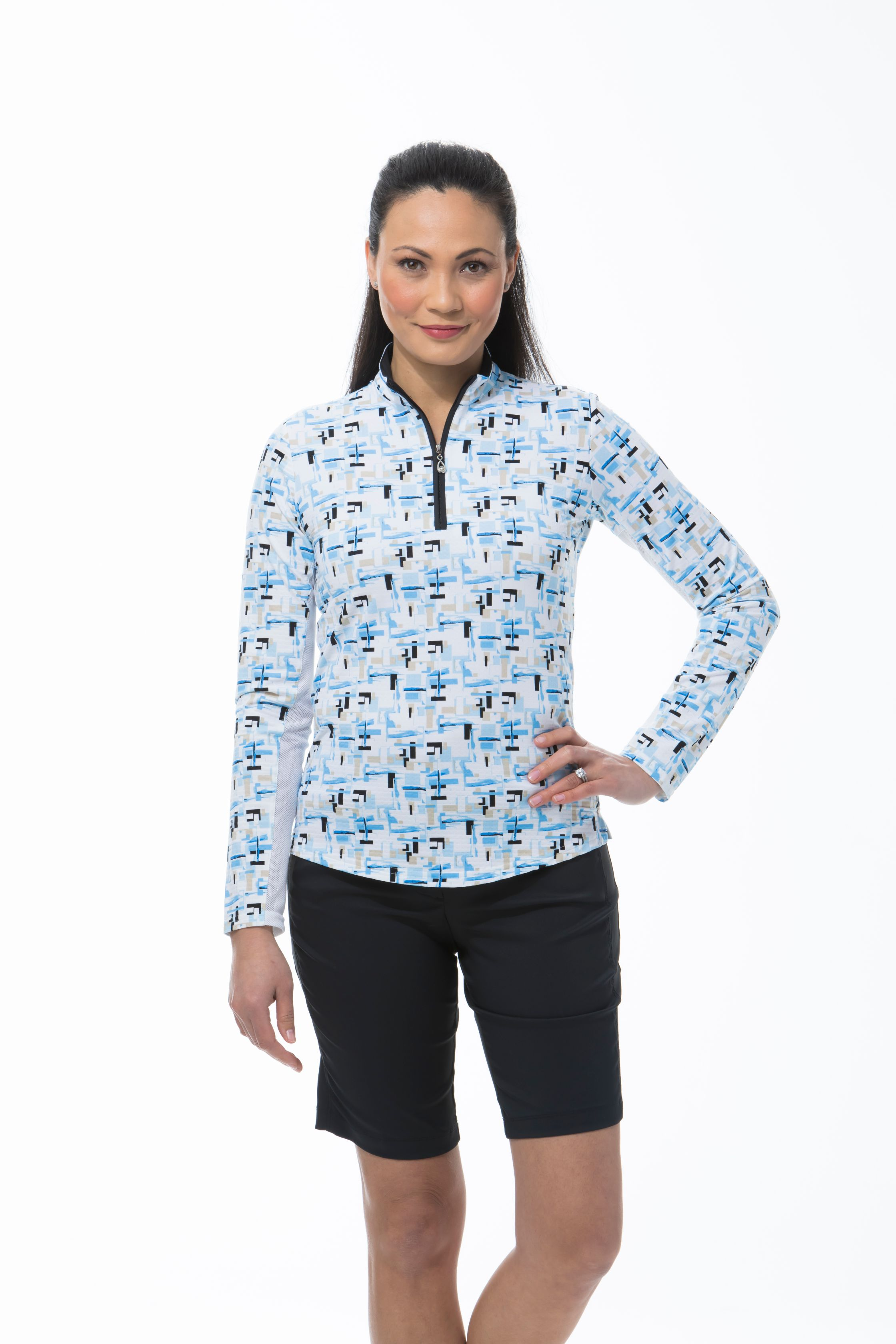 900611 SOLTEKICE L/S PRINT MOCK. Riley. Blue