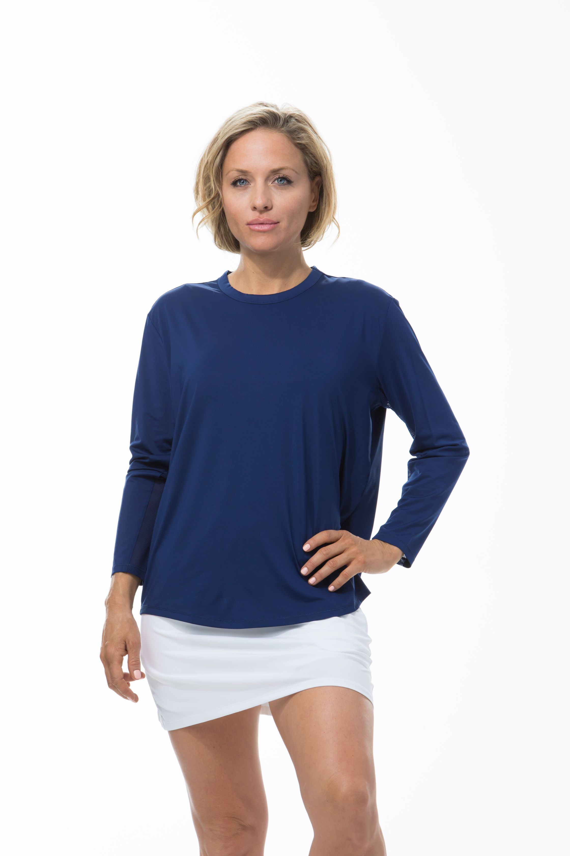 SANSOLEIL SUNGLOW RELAXED TEE. NAVY BLUE. 900730