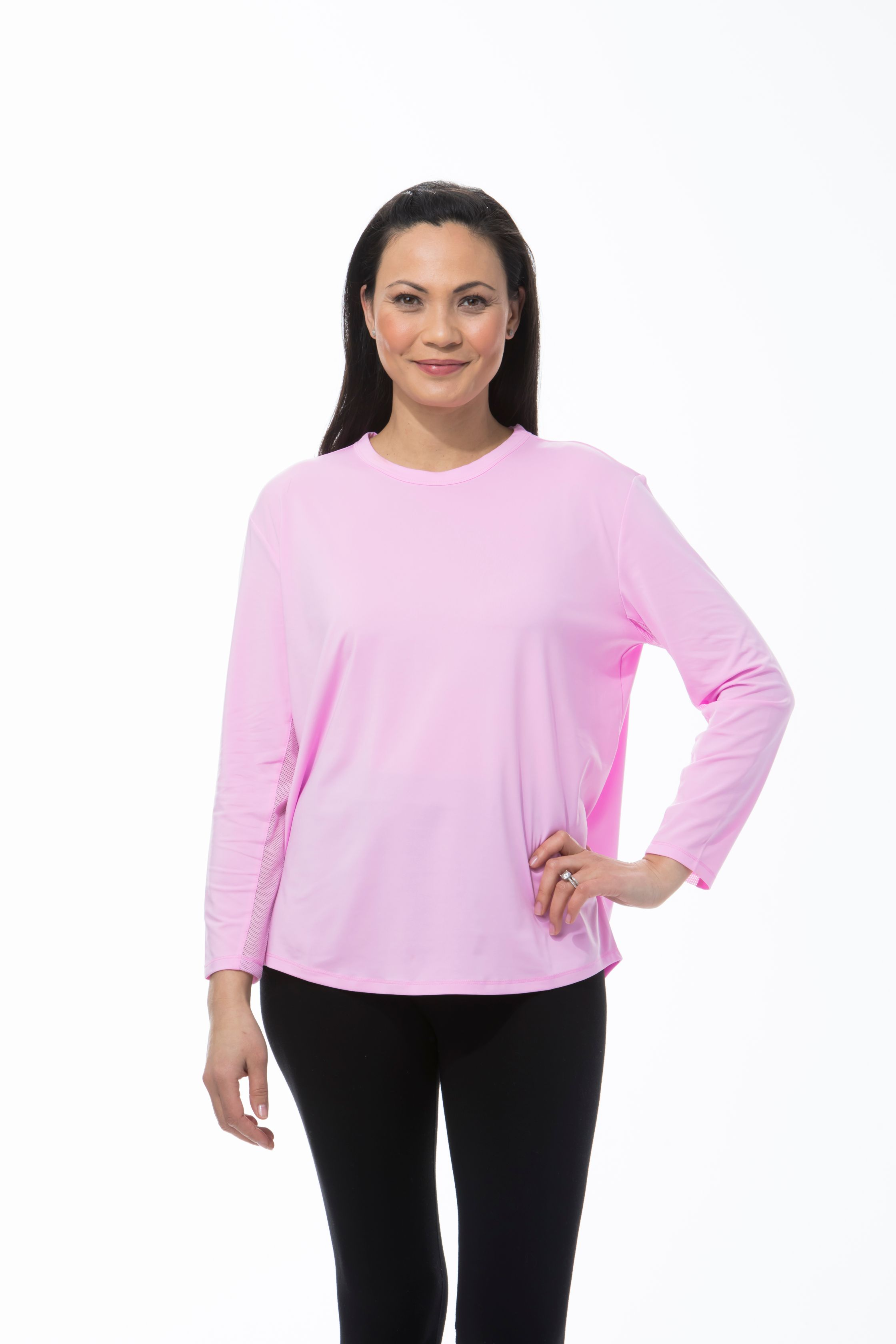 SANSOLEIL SUNGLOW RELAXED TEE. PINK. 900730