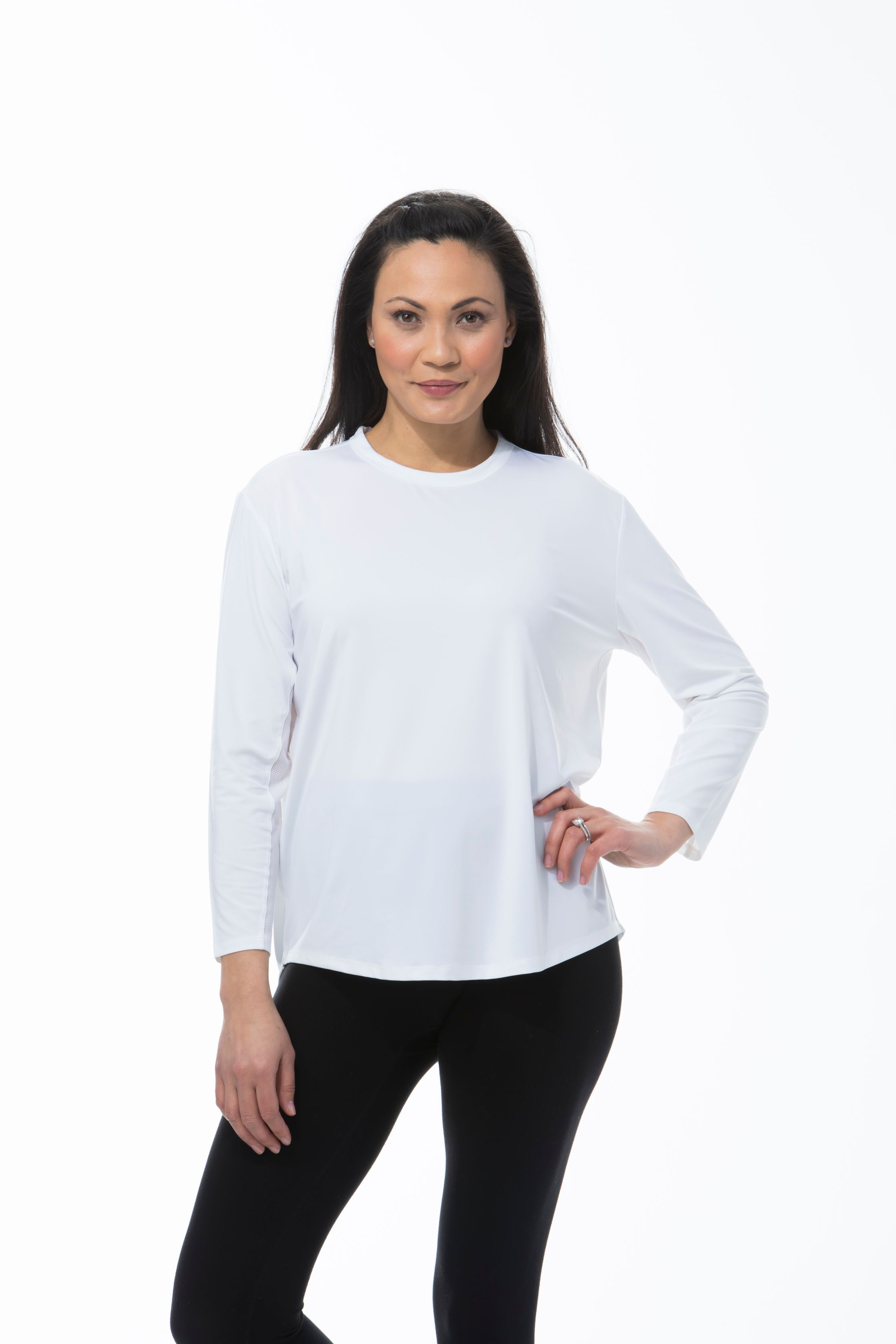 900730 Sunglow Relaxed Tee. White