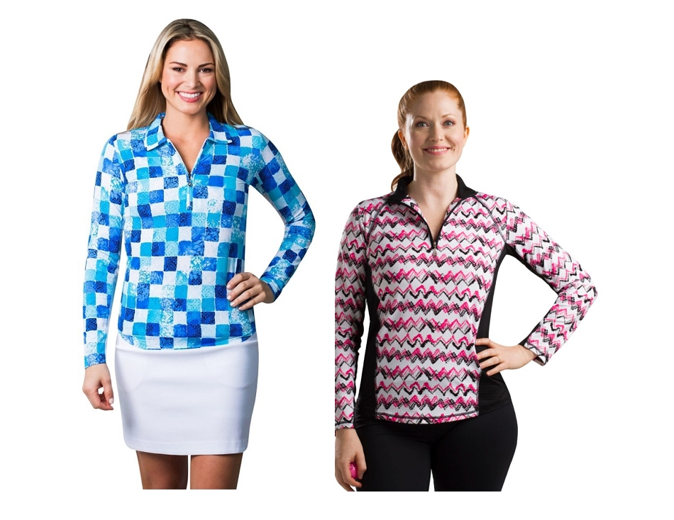 TwoFers XS-XL. 900610 Delmar Polo and 900614 ZigZag Pink Mock. XS-M Only