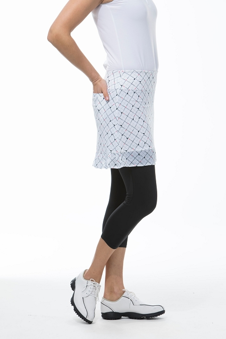 900214P -  SanSoleil SolCool Skortie with Printed Mesh. Tee Box