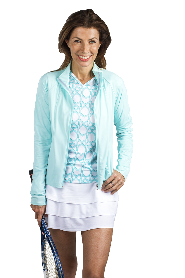900505 SolTek Full Zip Jacket. Pale Aqua