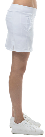 900208I SanSoleil SunGlow 14 Inch Tennis Skort with Compression Short. White