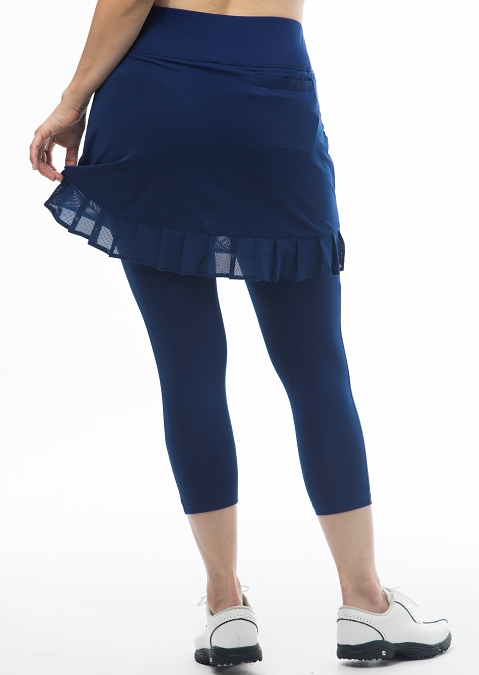 900214 SanSoleil SolCool Capri with Ruffle Skorty. Navy
