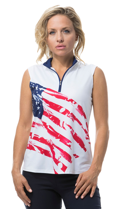 900471 SOLCOOL SLEEVELESS MOCK. Americana