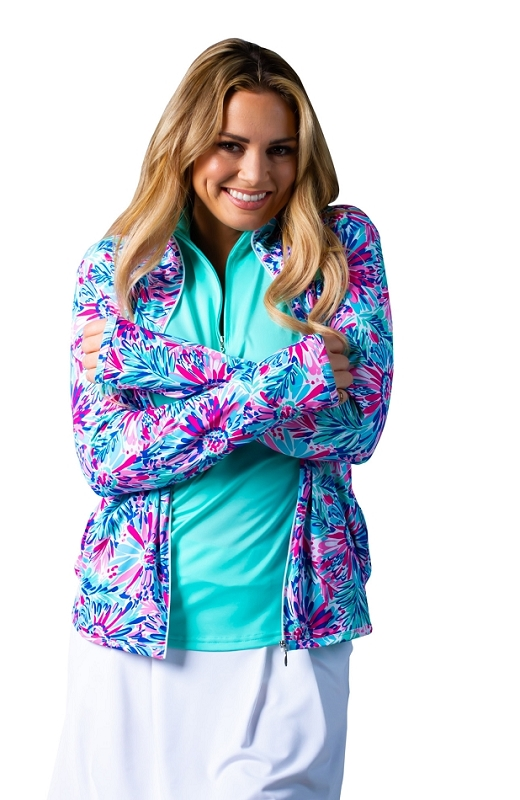 900506 SolStyle Cool Full Zip Jacket. Lola Print