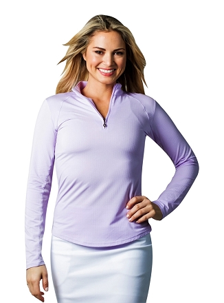 900602  SolTek Ice Zip Mock. Lilac