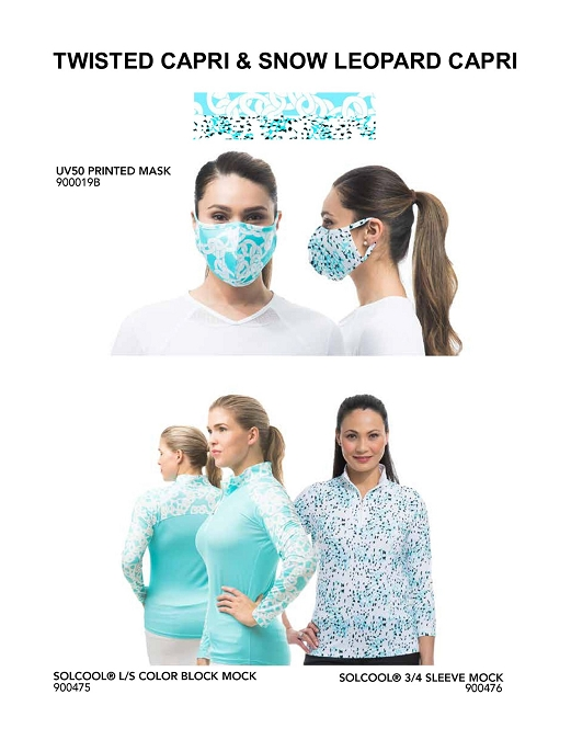900919 TWSTC/SNLC Mask/Top Bundle-900475 Twisted Capri and 900476 Snow Leopard Capri