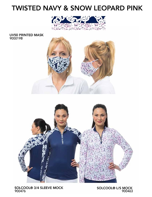 900919 TWSTN/SNLP Mask-Top Bundle-900475 Twisted Navy and 900463 Snow Leopard Pink