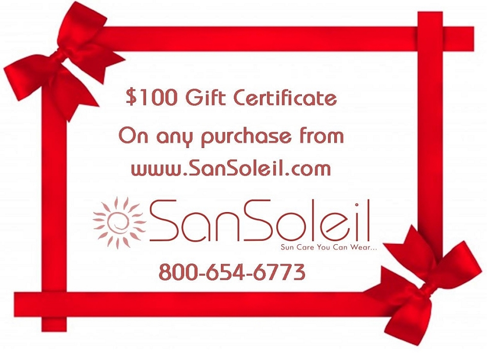 SanSoleil Give Sun Protection Gift Certificate