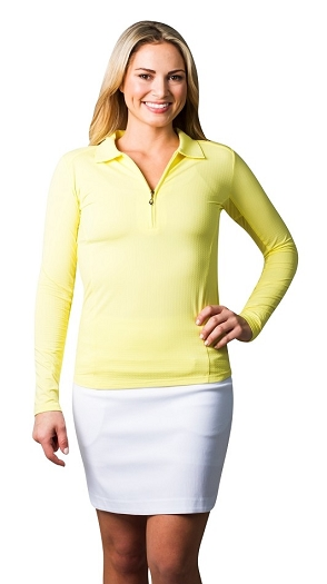 900601 SanSoleil SolTek Ice Zip Polo. Lemonade