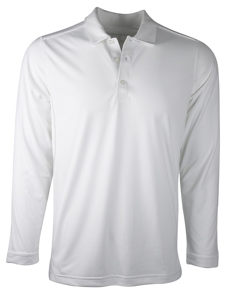 900810 Men's ProTec Button Polo. White