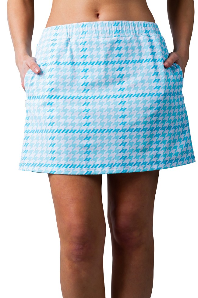 "900218C SolStyle Cool 18"" Golf Skort. Maud Turquoise Blue"