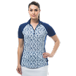 900477 SOLCOOL SHORT SLEEVE MOCK - Marquise. Navy
