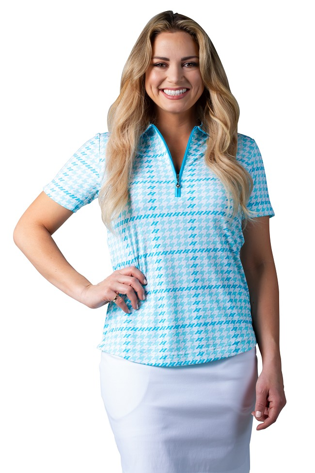 900615 SolTek ICE Fitted Short Sleeve Polo . Maud Turquoise