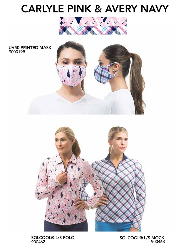 900919 mask bundle-Carlyle Pink  Avery Navy