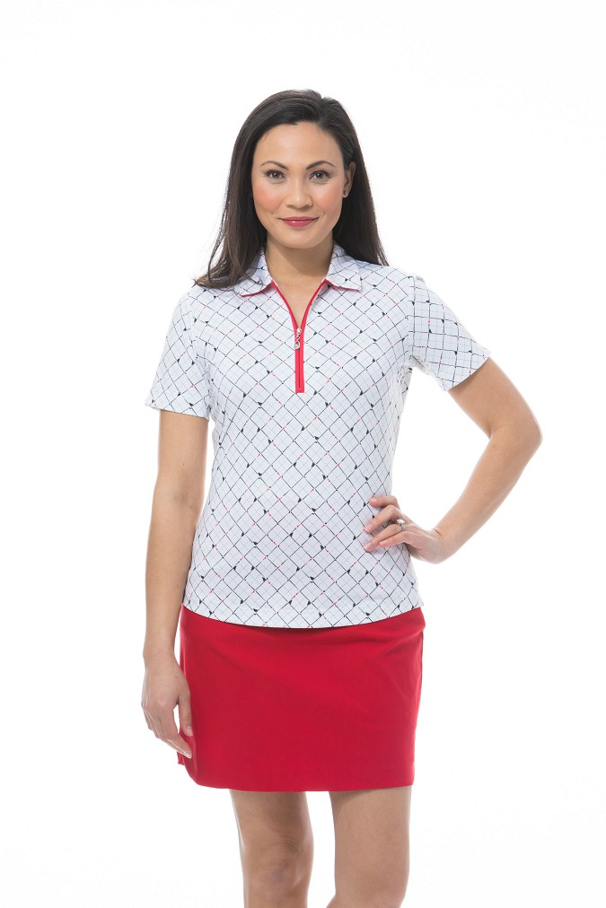 900473 SOLCOOL SHORT SLEEVE POLO - Tee Box White