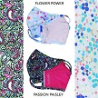 """Flower Power and Passion Paisley. The Mask Bundle that goes with ""The Flower Power"" Collection of Prints."""