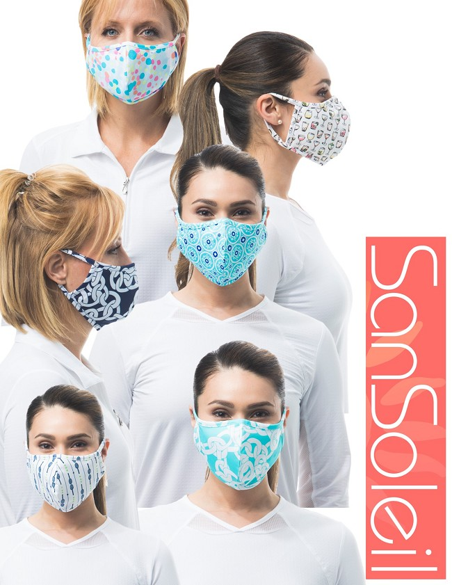 SanSoleil's UV 50 Reversible Matching Masks.