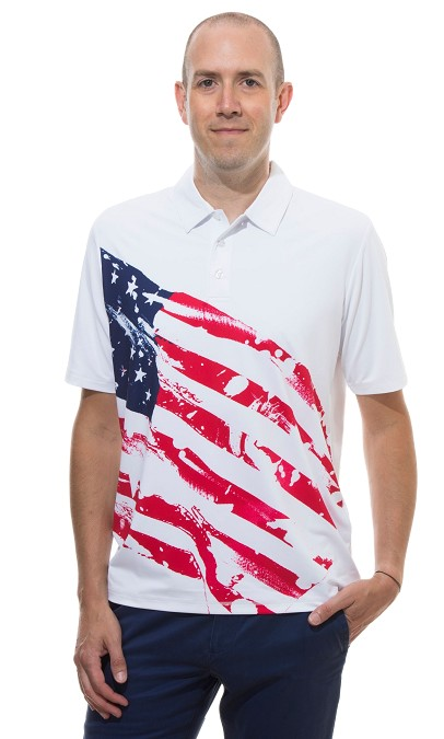 90Sansoleil Solsport Cool Mens Polo Americana. Pre-order now for June 17th Delivery