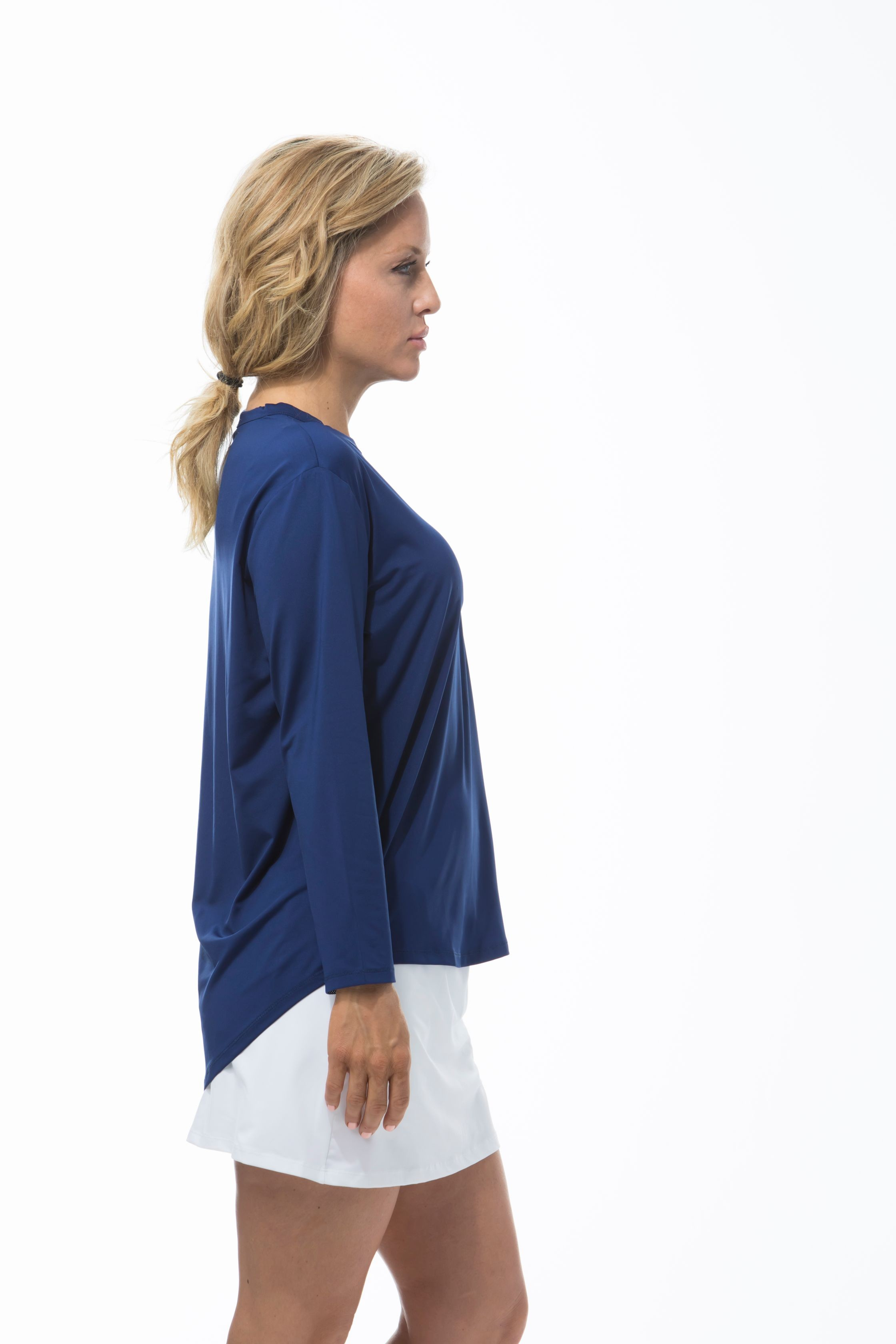 900730 Sunglow Relaxed Tee. Navy Blue